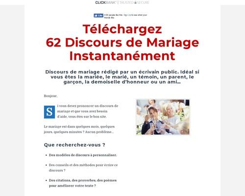 Discours de Mariage à Télécharger