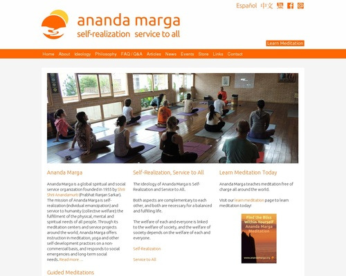 Ananda Marga: Yoga Meditation and Social Service Organization