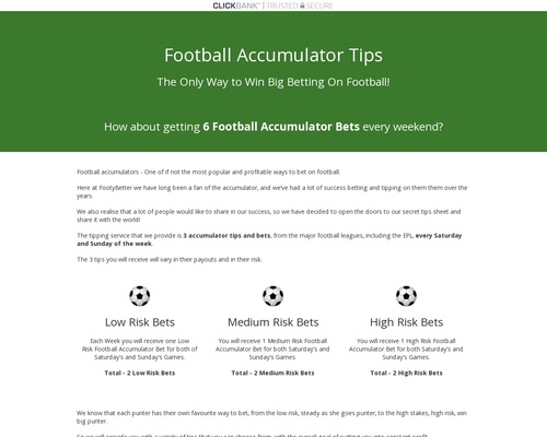 Football Accumulators Tips: Get winning tips from football leagues