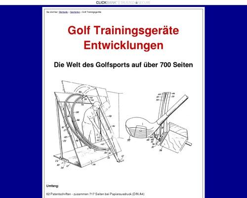 Golf Trainingsgeräte Und Entwicklungen