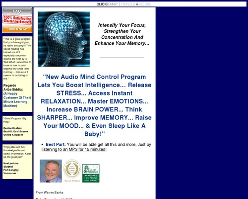 Audio Mind Control : Take Control Of Your MInd!