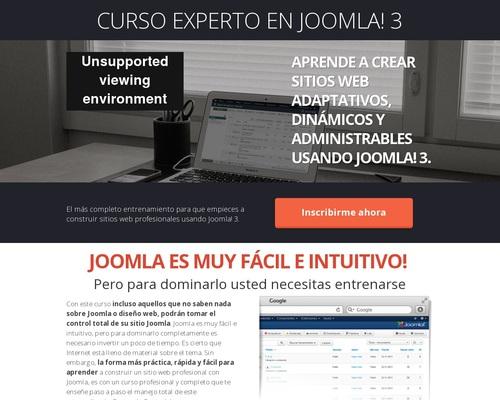 Curso Experto en Joomla! 3 — Cursos de Diseño Web: Joomla, WordPress, Drupal, HTML, CSS, PHP, SEO
