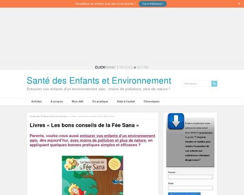 """Livres """"Les bons conseils de la Fée Sana"""""""