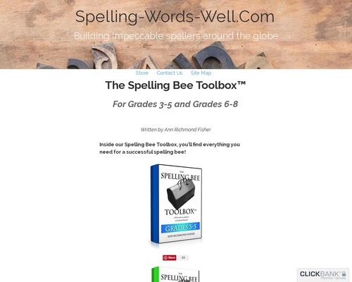The Spelling Bee Toolbox eBooks