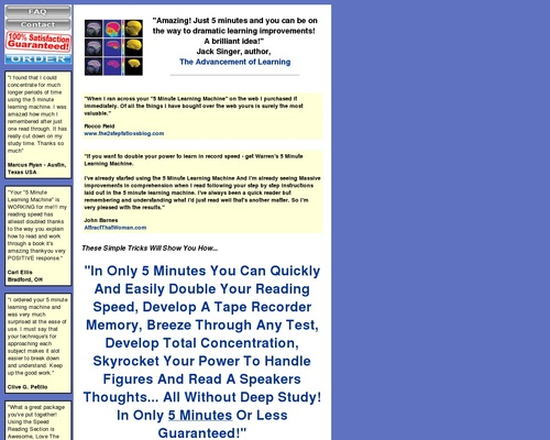 5 Minute Learning Machine: Doubling Your Power To Learn In Only 5 Minutes… Guaranteed