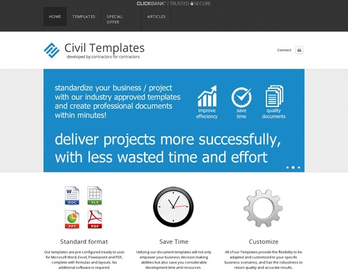 Civil Engineering Templates – Project Management Document Templates