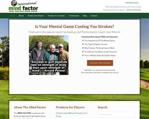 Golf Mental Game Products By Karl Morris – MIND FACTOR International