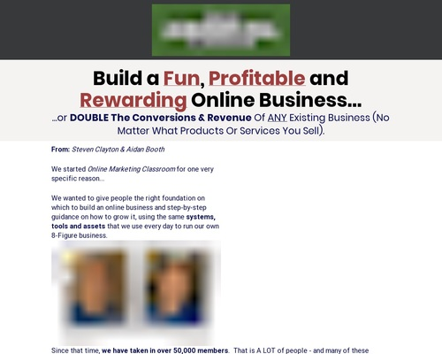 Online Marketing Classroom – Up To 8/sale!