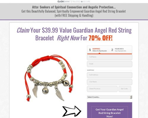 Claim Your .99 Guardian Angel Red String Bracelet now for more than 70% off!