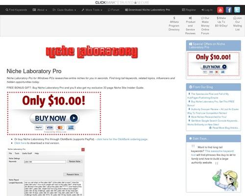 Niche Laboratory Pro: Niche Research Software For Professional Bloggers
