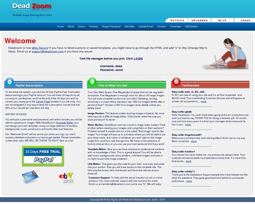 Reliable Image Hosting Since 2001 | DeadZoom