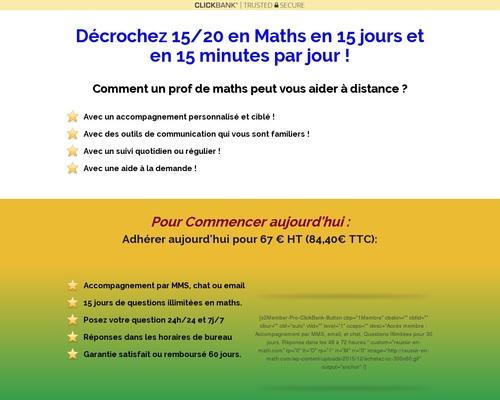 Décrochez 15/20 en Maths en 15 Minutes par jour ! — Soutien de Maths Digital et Mobile