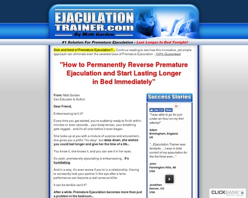 ejaculationtrainer.com -&nbspejaculationtrainer Resources and Information.
