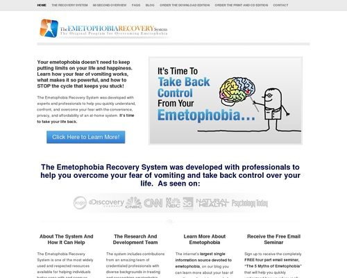 Emetophobia Recovery System – Start Overcoming Your Emetophobia Today – Resources and Help for Overcoming Emetophobia