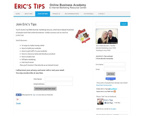 Join Eric's Tips | Eric's Tips