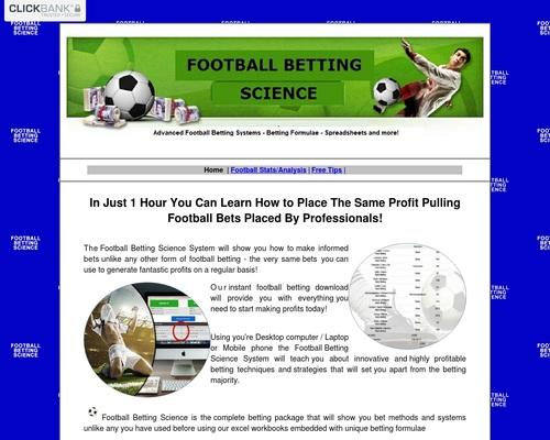 Football Betting Science:  Start Making Profits Today!
