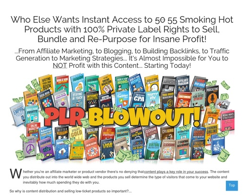 PLR Blowout – 55 Niche eBook Products with Full Private Label Rights