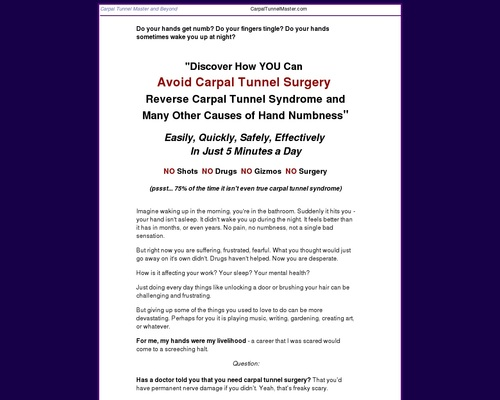 Carpal Tunnel Remedy – Carpal Tunnel Master, Self-Help Remedy for Carpal Tunnel Syndrome
