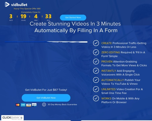 Vidbullet | Up To 0 A Sale | 75% Commissions