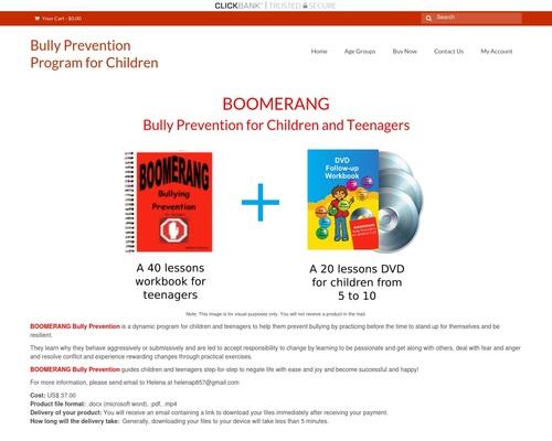 BOOMERANG  Bully Prevention for Children & Teenagers – Bully Prevention Program for Children
