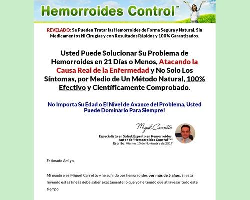 Hemorroides Control – 90% De Comisión!