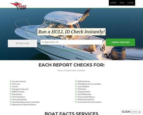 Boat Alert History Reports