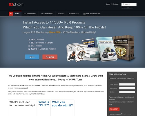 free PLR membership download latest products with resell, master resale and private label rights!