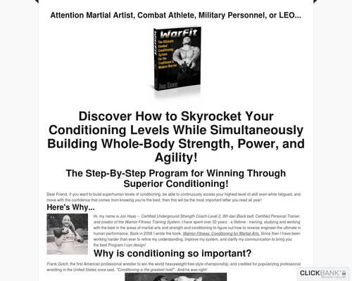 WarFit Conditioning System | Warrior Fitness