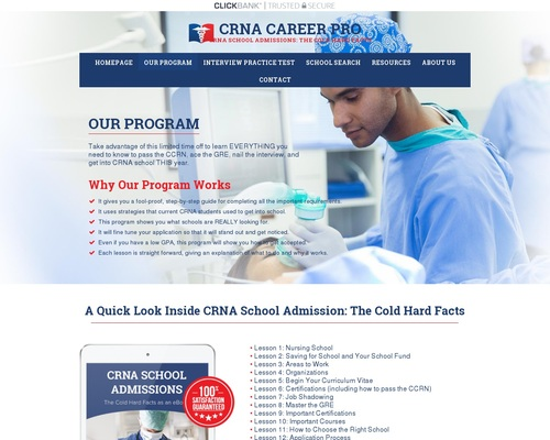 CRNA School Admissions- CRNA Career Pro