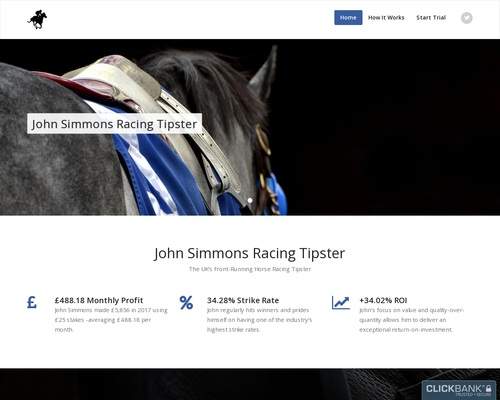 John Simmons Racing Tipster – The UK's Front Running Horse Racing Tipster