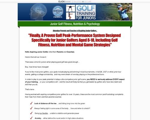 Junior Golf Training – An Untapped Market!