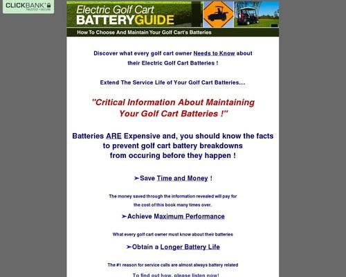 Golf cart batteries | Golf Cart Batteries Maintenance