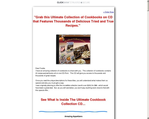 The Ultimate Cookbook Collection CD