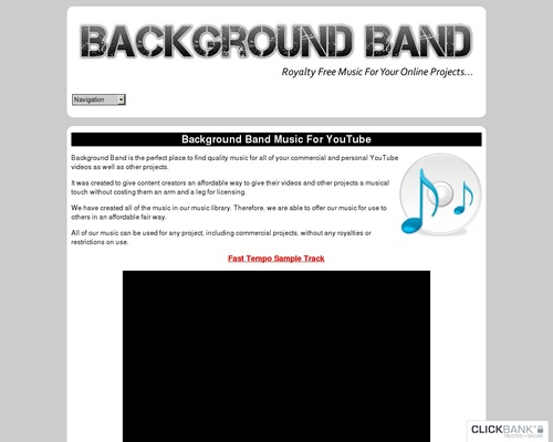 Background Band – Royalty Free Commercial And Personal Use Background Music For YouTube Videos