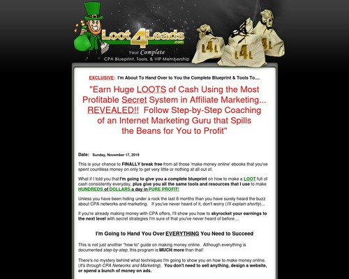 Loot 4 Leads – Make Money with CPA Offers