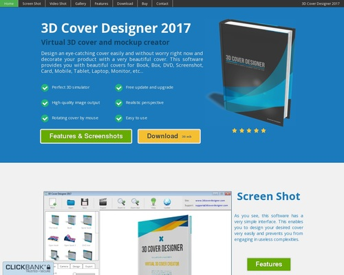 3D Cover Designer – Virtual 3D cover and mockup creator