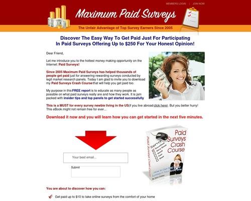 Eligibility Survey – Maximum Paid Surveys