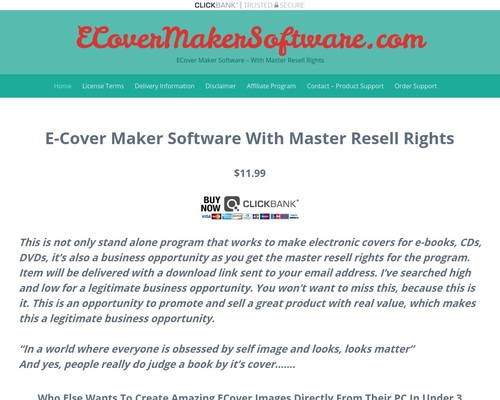ECoverMakerSoftware.com | ECover Maker Software – With Master Resell Rights