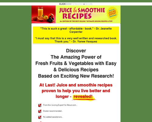 Juice and Smoothie Recipes