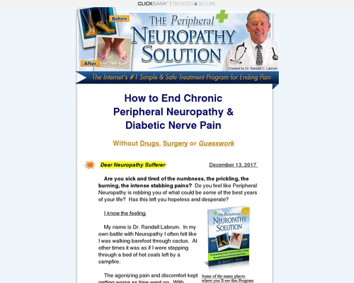 How to End Chronic Peripheral Neuropathy & Diabetic Nerve Pain?