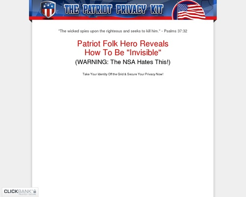 The Patriot Privacy Kit: #1 Best Selling Survival Privacy Product!