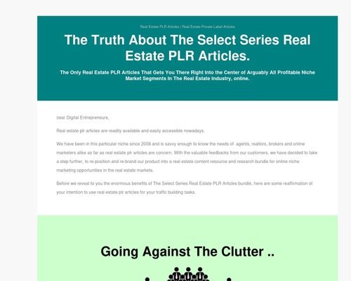 The Select Series Real Estate Private Label Articles