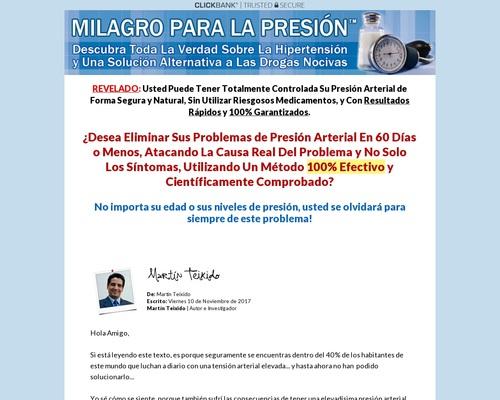 Milagro Para La Presion – Unico En Español!