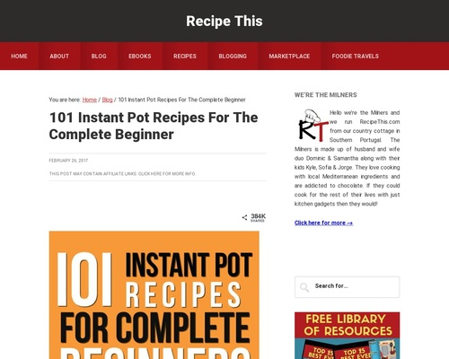 101 Instant Pot Recipes For Beginners Cookbook