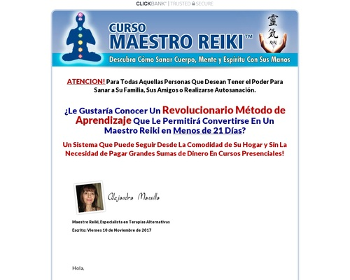 Curso Maestro Reiki – Unico En Español. 90% Comision