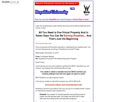 how you can earn royalties- the simplest way to get monthly recurring income