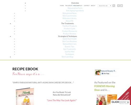 Recipe eBook   Natural Anti-Aging Skin Care