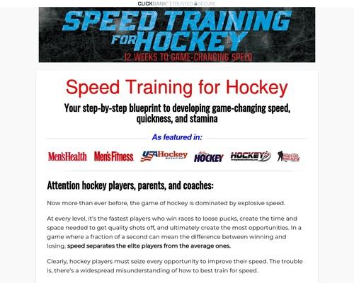 Speed Training for Hockey