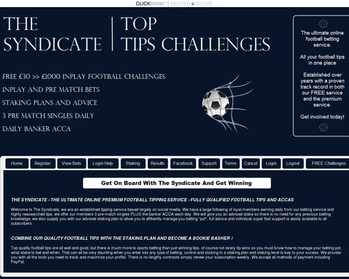 The Syndicate – Pre match bets – ACCAs – Doubles and trebles