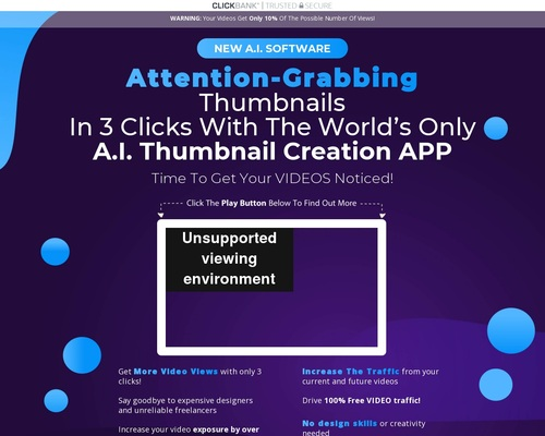 Thumbnail Blaster | The Ultimate THUMBNAIL Creation Solution – Create Attention-Grabbing Thumbnails With 3 Clicks